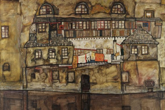 Egon Schiele House Wall on the River